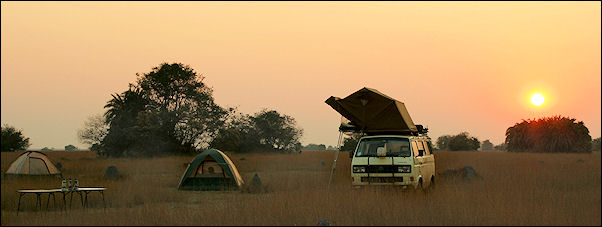 Zambia - Camping in the wild in the Bangweulu marshes